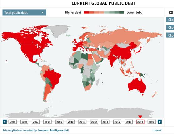 Dívida pública dos países (próxima crise)