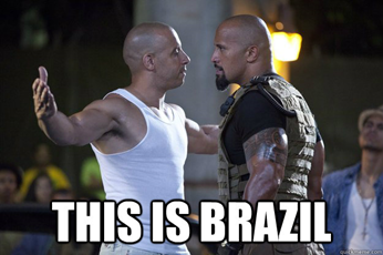 Meme filme: Velozes e Furiosos 5 (Brasil barato)